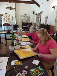 Flower Painting at Cartwheels Craft Centre