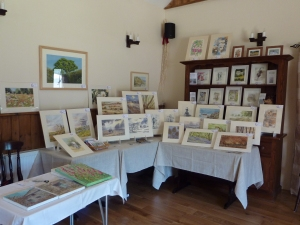 Display of my Paintings at Cartwheels Summer Craft Fair