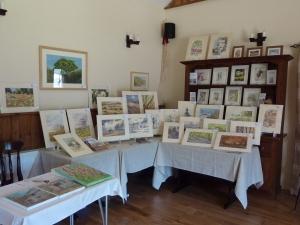Display of my Paintings at Cartwheels Summer Craft Fair