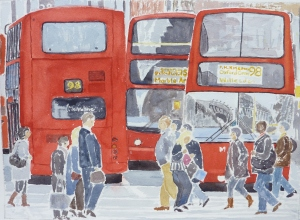 London Buses by Percy Kingdom