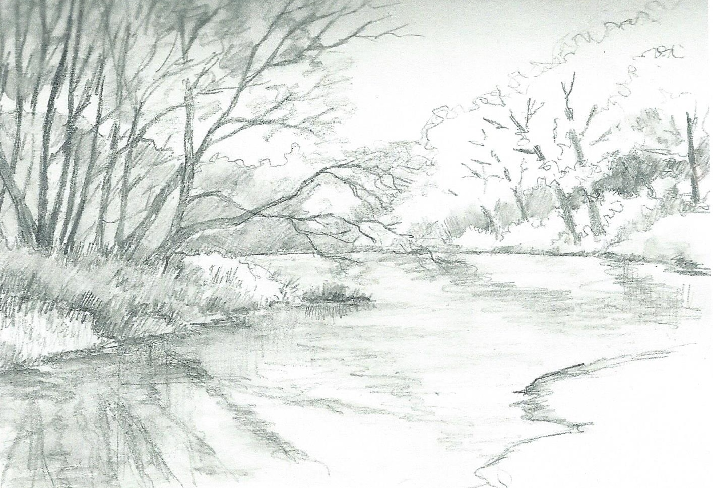 It's just a picture of Effortless Drawing Of A River