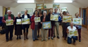 The Group and their paintings.  Although some paintings were not quite finished, as time did not allow but they were able to finish at home.