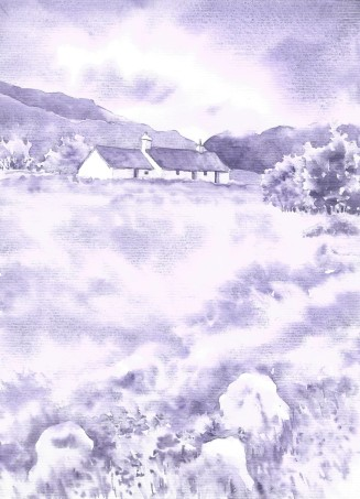 Tonal Painting Scotland Cottages